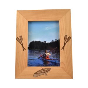 Personalized wooden picture frame.