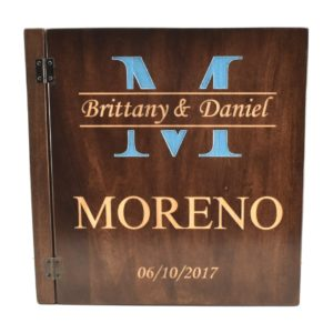 Custom engraved photo gallery cover.