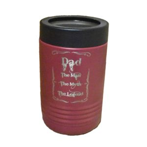 Custom engraved, insulated cup.