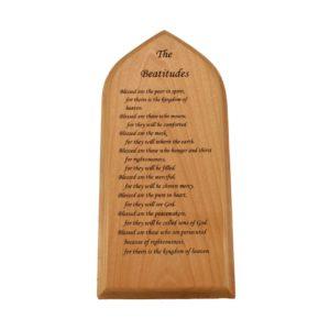 Custom engraved hardwood sign.