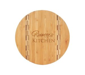 Round Business Engraved Bamboo Charcuterie Board