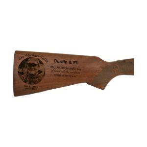 Memorial Photo Gun Stock Engraving