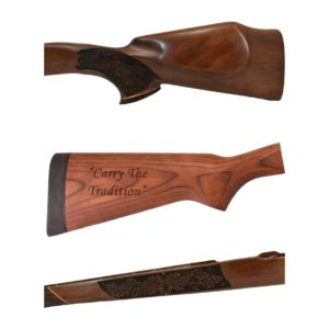 Text Butt Stock with Grip and Forearm Checkering